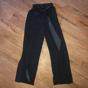 Pants - Wide Leg Polkadot Pants